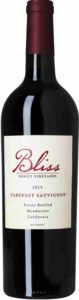 Bliss Cabernet Sauvignon, Bliss Vineyards, 2015